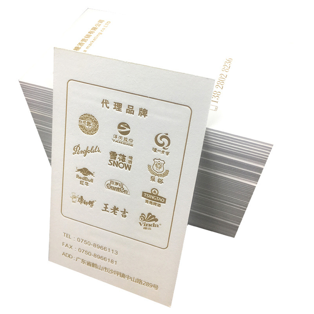 Custom Letterpress greeting card offset printing Cotton paper business cards