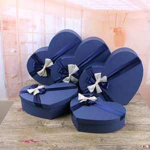 Manufacturers supply 5 sets of big love gift box, Valentine's Day flower gift box with heart shape
