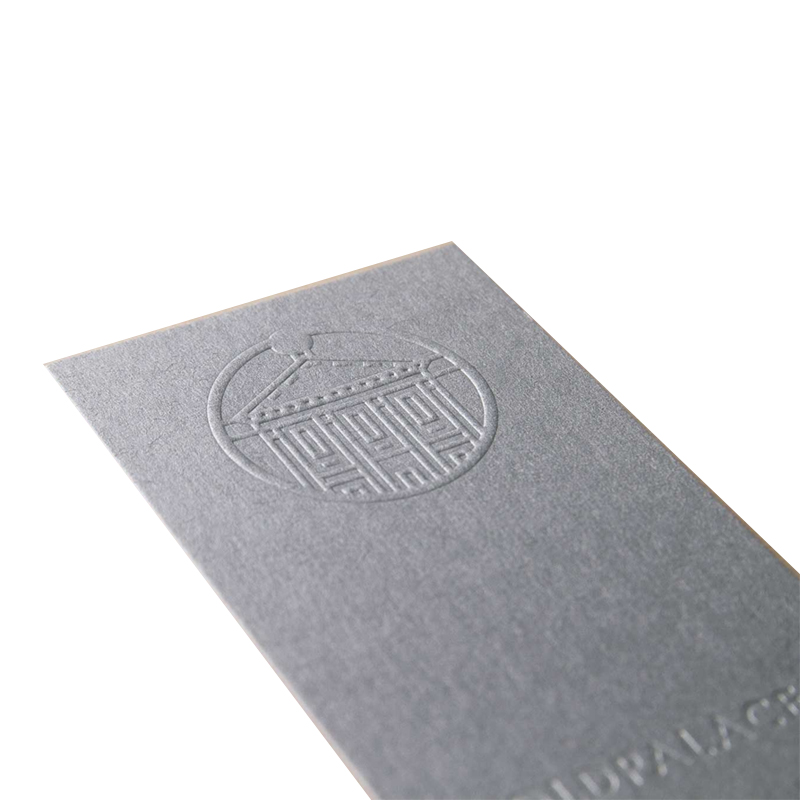 2021 Custom Luxury Cotton Paper Blinding Emboss Art Process Business card
