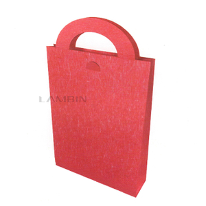 paper bag with a flat bottom and a handle structure