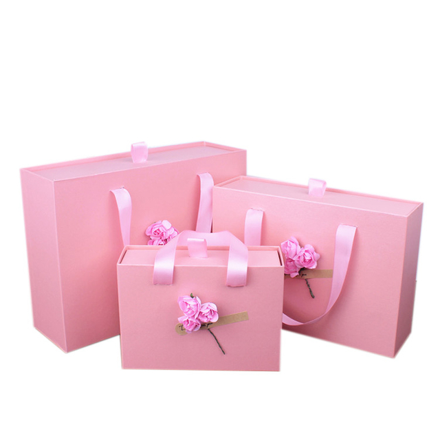 Custom Big Size gift price paper box sweet, paper box with ribbon