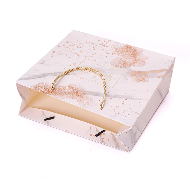 Custom Design High Quality Special Paper Stamping Printing Packaging Bag For Gift