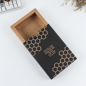 Manufacturer customized kraft paper black card folding drawer type carton pattern specification can be customized