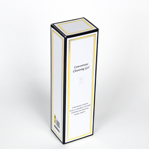 Customized color printed eco friendly Design Full Color Gold Foil 30ml 50ml Beauty Paper Box Cosmetic Packaging