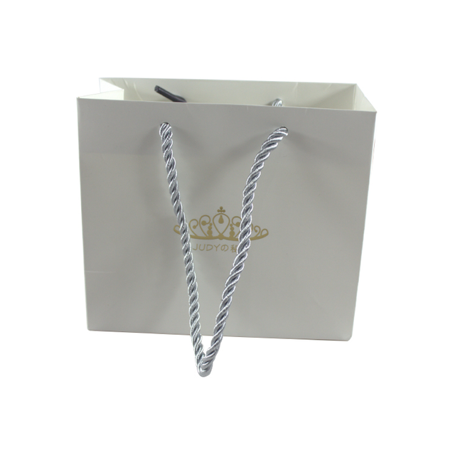 Wholesale Custom Logo White Kraft Gift Shopping Paper Bag With Handles