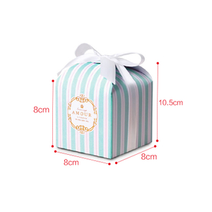 Tiffany blue and white stripe exquisite box