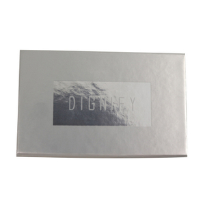 Customized Design Packaging Gift Box, Sliver Recyclable Paper Boxes with logo stamping