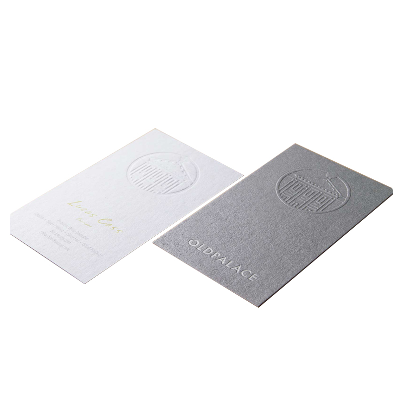 Hot-sale Luxury 2021 Custom white art paper greeting card Cotton paper business cards