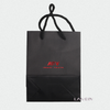Printing High Grade Logo Bronzing Black Packaging Paper Bag For Gifts