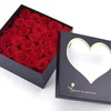 Wholesale Cheap Price PVC Window packaging box heart shaped flower box