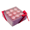 Wholesale Plastic Window Lid-off Souvenir Transparent Gift Flowers Box With Window