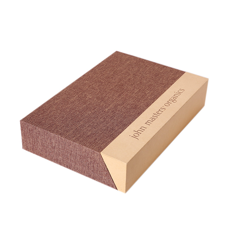 Luxury Custom Design Logo High Quality Paper Box Outfitted With A Layer of Faux Fabric Of Special Paper And Drawer Packing Bo