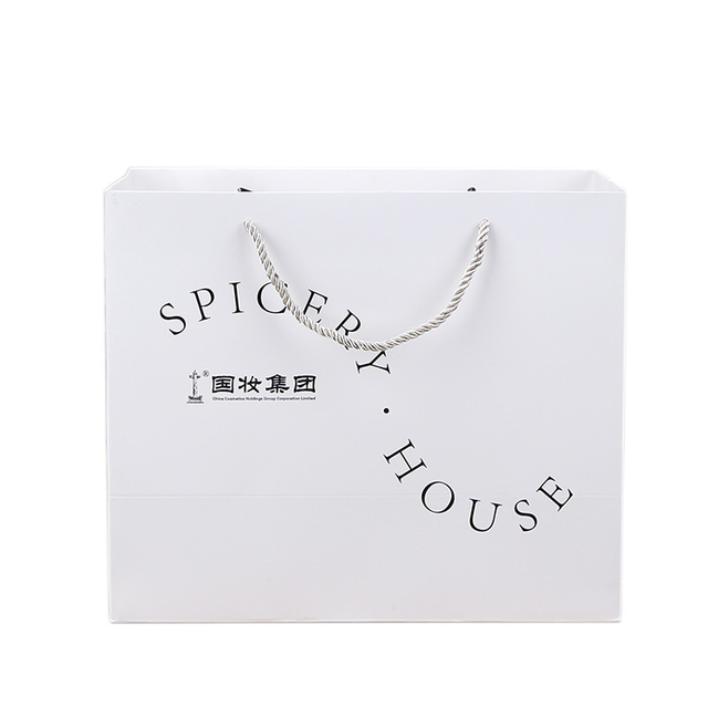 New Design Customized Printing Shopping Paper Bags,white Plain Paper Coated Bags