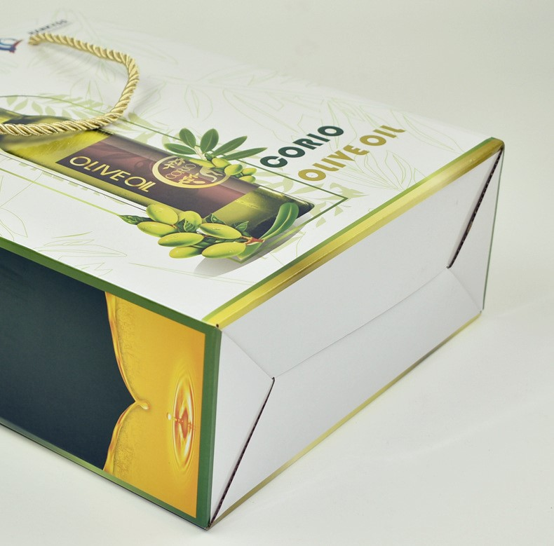 Custom Design Luxury Custom Gift Packaging Paper With Hand Rope