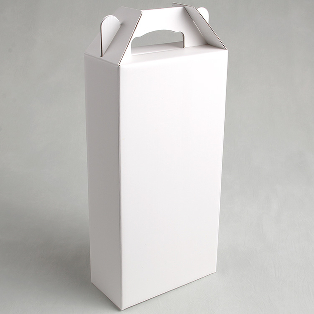 White Paperboard Packing Box With A Handle On The Top For Small Bottle Grape Wine Of Singapore Markets
