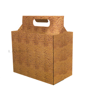 6 bottles cardboard carrier box
