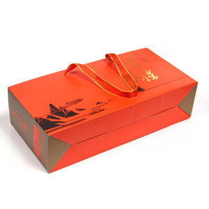 Corrugated box of tea can with Chinese ancient style handle