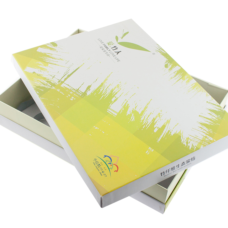 Custom Printed Home Textile Packaging Gift Box Design Paper Gift Box