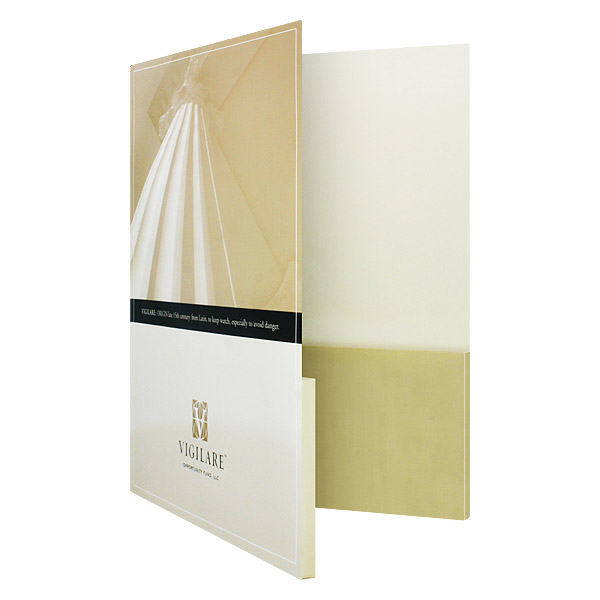 Cheap Printed 2 pockets custom paper file presentation folder for file and business card