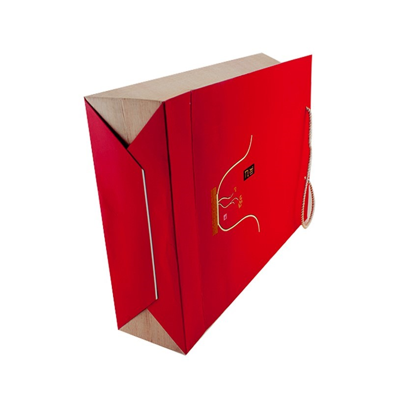 2020 Red Shopping Paper Bag With Matt Gold For The Clothes