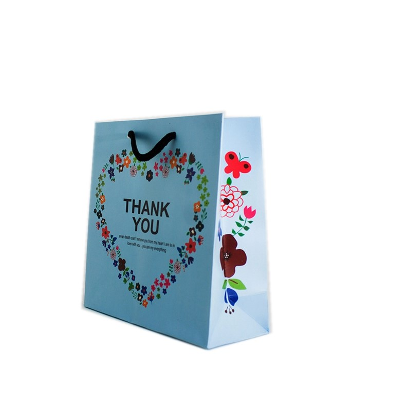 Full Color Print Custom Christmas Gifts Paper Bags