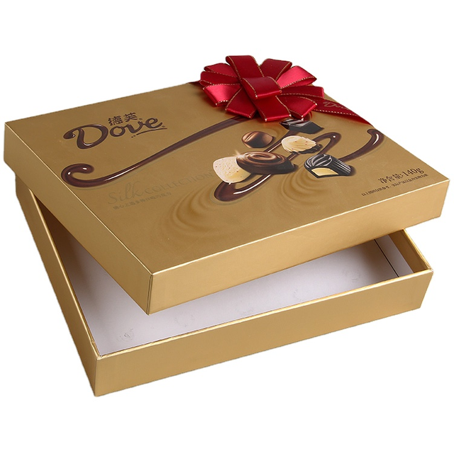 High-end Printing Luxury Boutique Stamping Custom Logo Printed Food Square Cardboard Chocolate Paper Box, Paper Chocolate Boxes