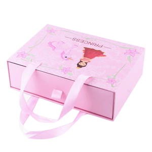 Wholesale Customized drawer paper gift box,paper cardboard suitcase box with handle