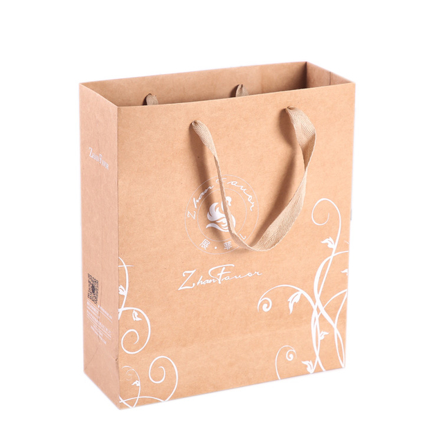 HangZhou supplier craft paper gift bag thank you,recycle paper bags with custom logo