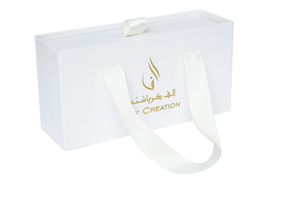 Custom logo drawer box for Arab country with foil logo