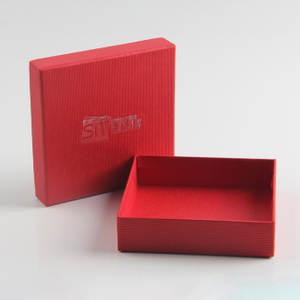 Custom Logo Color Box Lid and Base Rigid Gift Box for Dress Packaging Scarf Retail Box