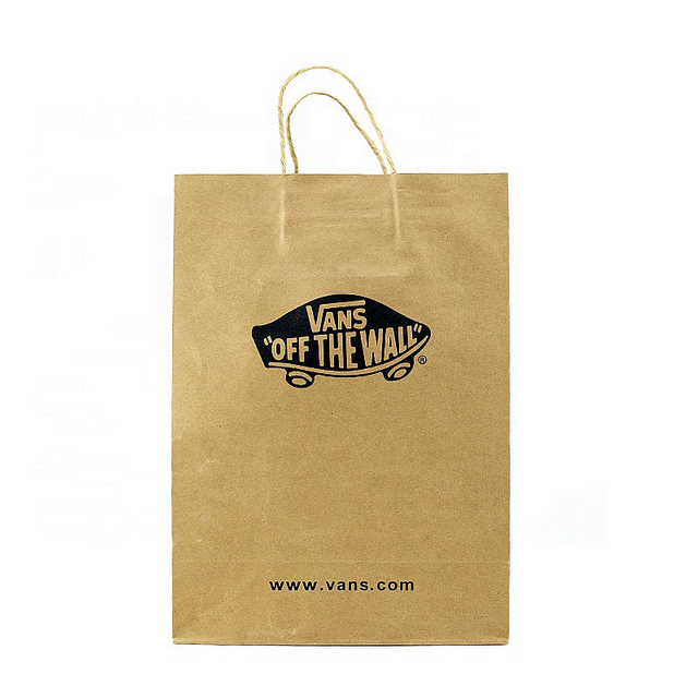 China Supplier Print Special Design Shoes Packaging Kraft Paper Gift Bag with Handle